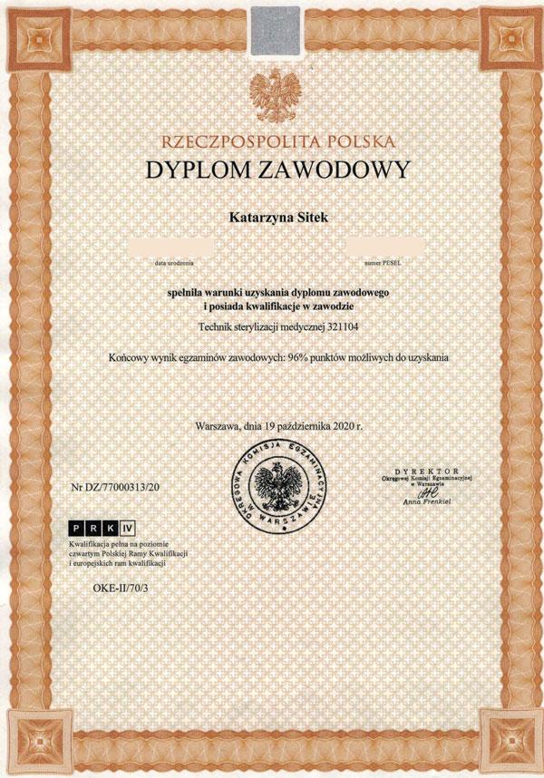 certyfikat -ks