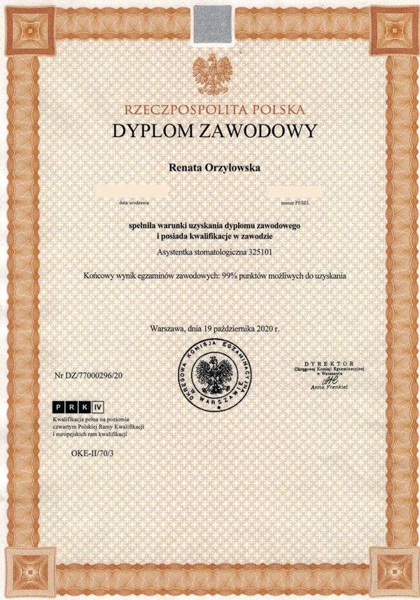 certyfikat -ro